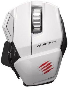 Mad Catz R.A.T.M Wireless Mobile Gaming Maus für PC, Mac und mobile Endgeräte, weiss