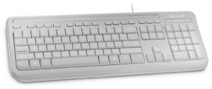 Microsoft - Wired Keyboard 400 für Business (7YH-00024) USB 2.0, Tastatur, weiß