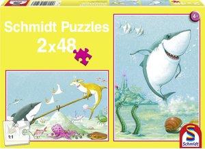 Kleiner weißer Hai. Kinderpuzzle Standard 2x48 Teile
