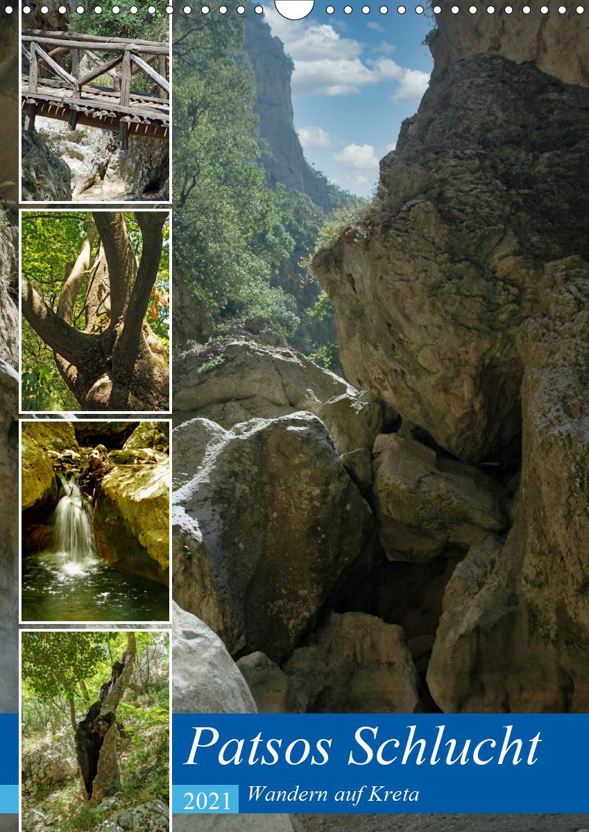Patsos Schlucht. Wandern auf Kreta (Wandkalender 2021 DIN A3 hoc