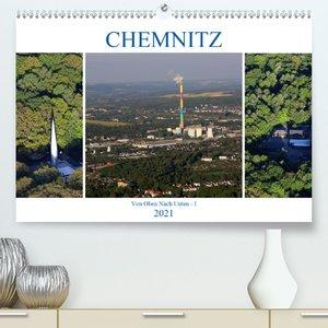 Chemnitz - Von Oben Nach Unten (Premium, hochwertiger DIN A2 Wan