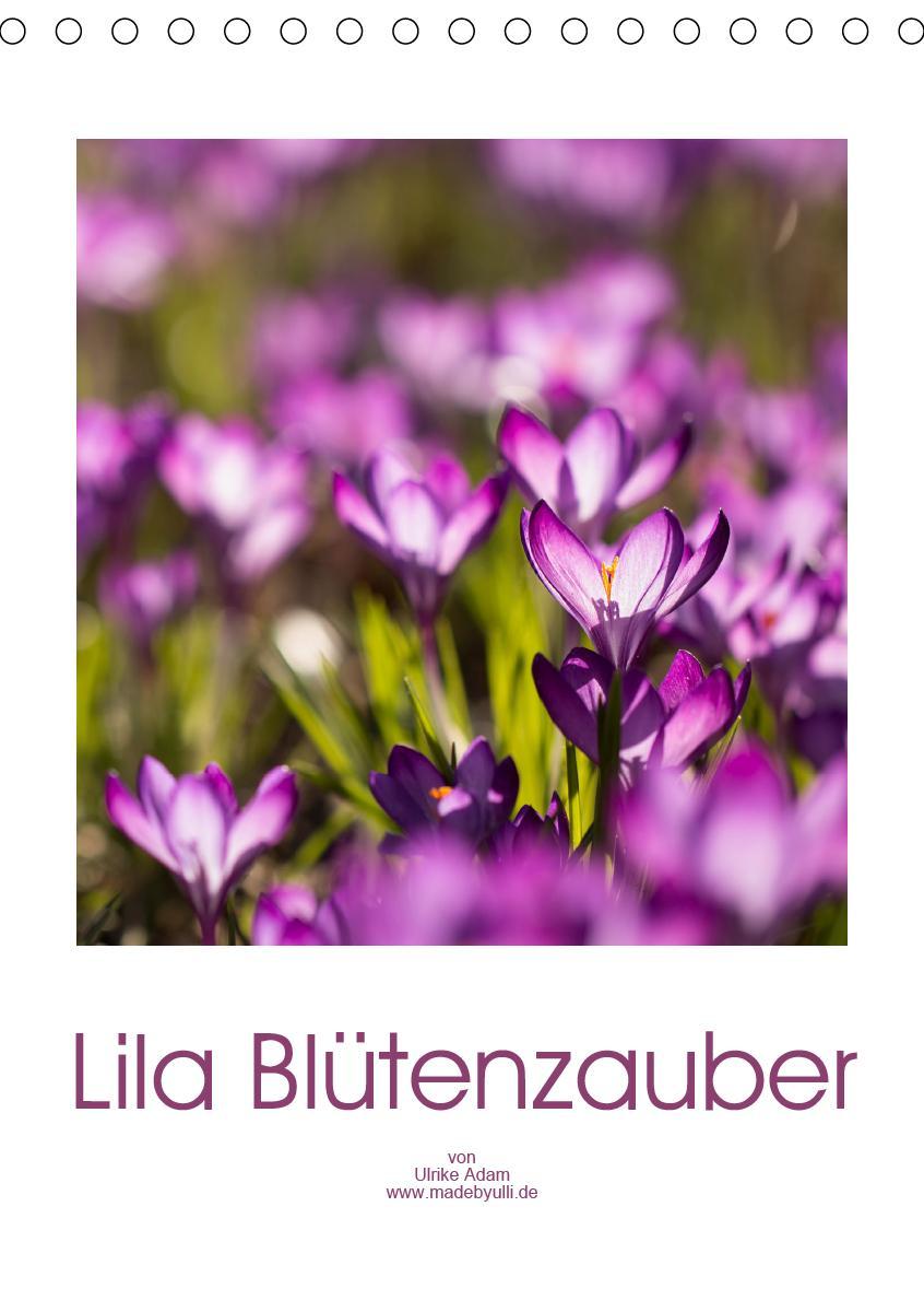 Lila Blütenzauber (Tischkalender 2021 DIN A5 hoch)