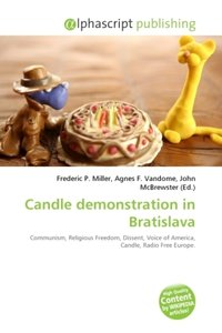 Candle demonstration in Bratislava