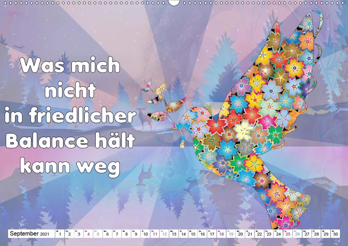 Spruchkalender - frech und bunt (Wandkalender 2021 DIN A2 quer)