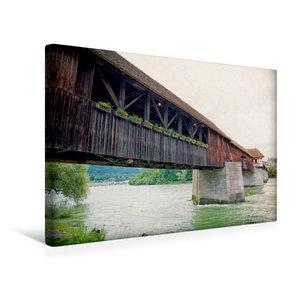 Premium Textil-Leinwand 45 cm x 30 cm quer Rheinbrücke