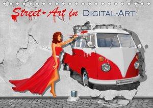 Street-Art in Digital-Art by Mausopardia (Tischkalender 2021 DIN