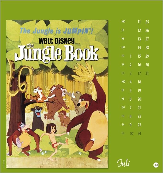 Disney Classic Filmplakate Postkartenkalender 2022