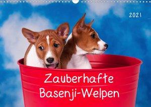 Zauberhafte Basenji-Welpen (Wandkalender 2021 DIN A3 quer)