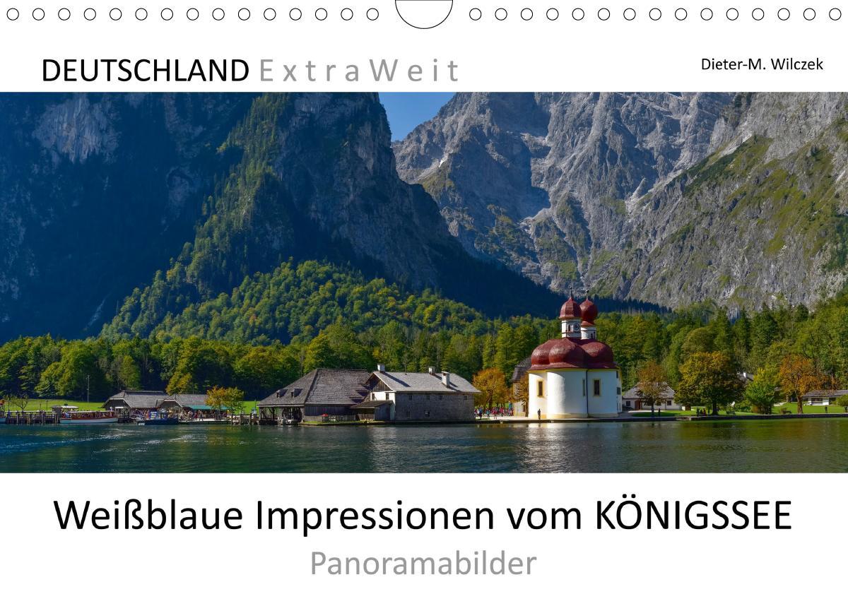 Weißblaue Impressionen vom KÖNIGSSEE Panoramabilder (Wandkalende