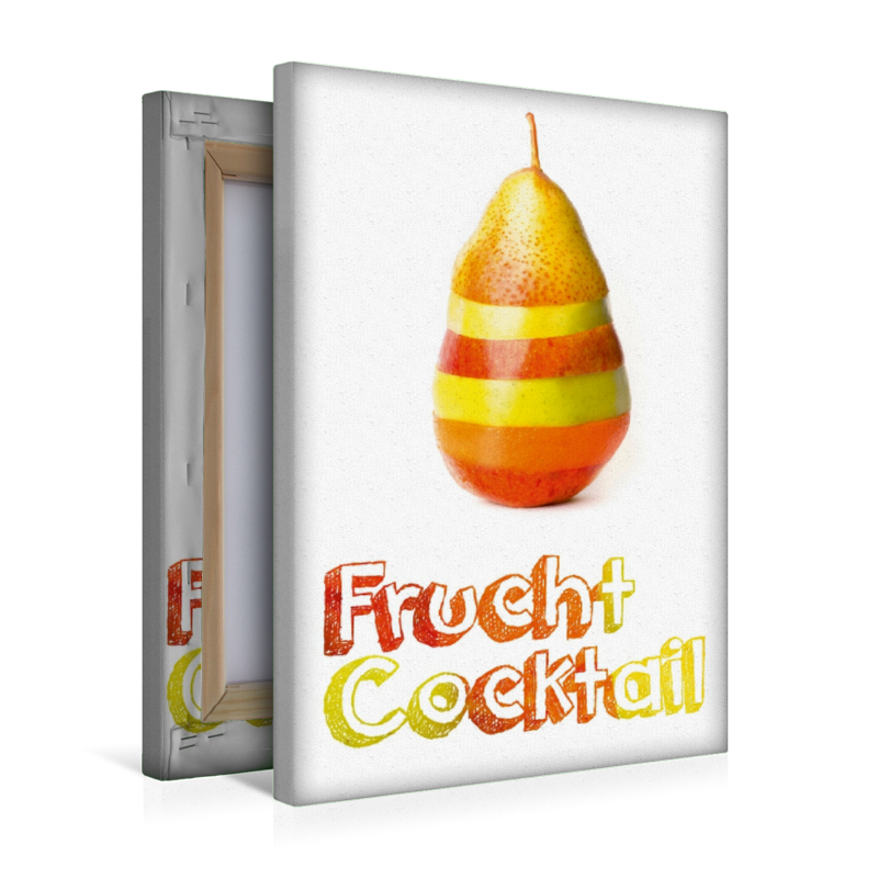 Premium Textil-Leinwand 30 cm x 45 cm hoch Frucht Cocktail - Gen
