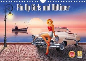 Pin-Up Girls und Oldtimer by Mausopardia (Wandkalender 2021 DIN