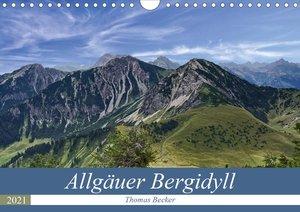 Allgäuer Bergidyll (Wandkalender 2021 DIN A4 quer)
