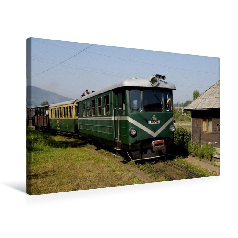 Premium Textil-Leinwand 75 cm x 50 cm quer Der Triebwagen Rossia
