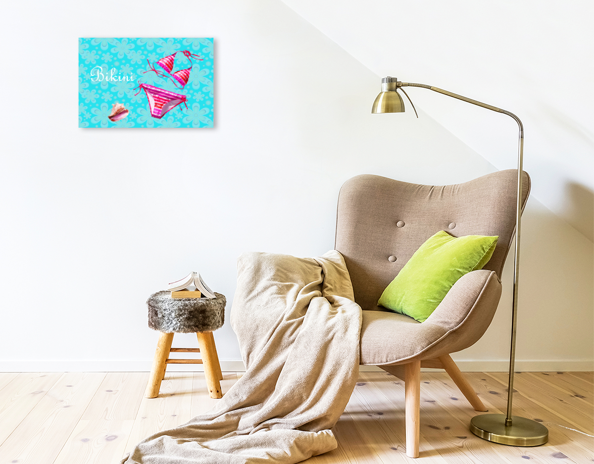 Premium Textil-Leinwand 45 cm x 30 cm quer Bikini