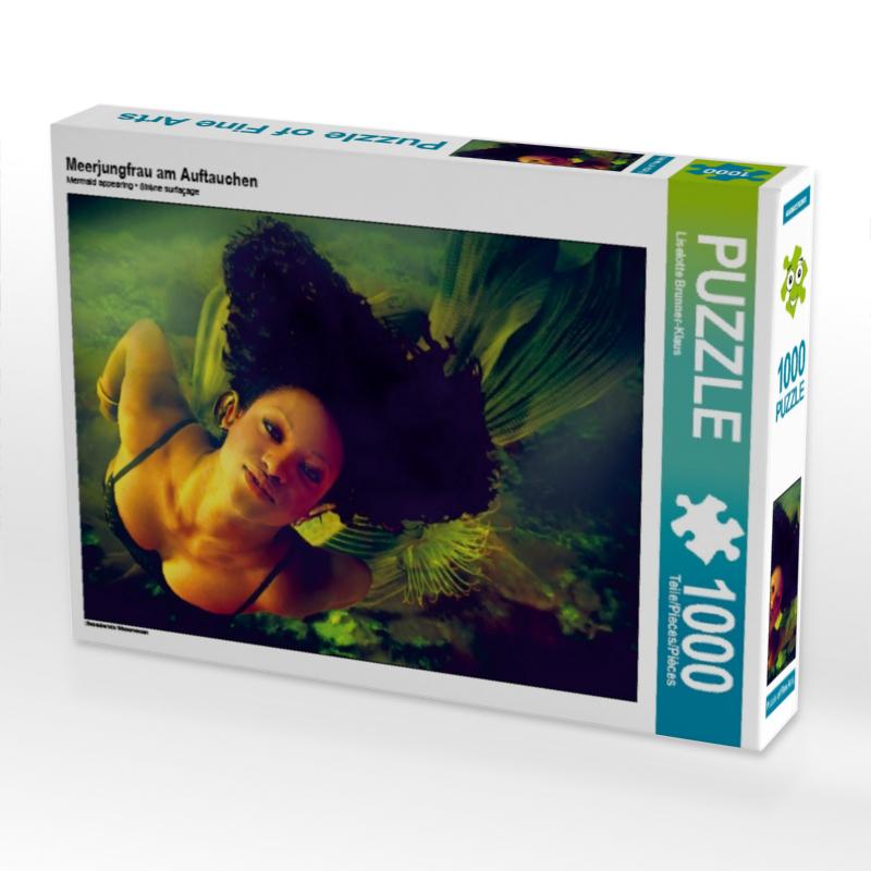 Meerjungfrau am Auftauchen 1000 Teile Puzzle quer