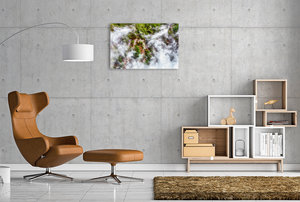 Premium Textil-Leinwand 90 cm x 60 cm quer Neuseeland - Heiße Qu