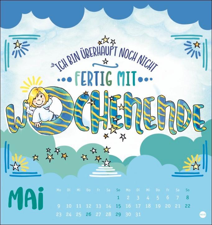 Schutzengel Postkartenkalender 2022