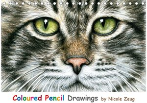 Coloured Pencil Drawings (Tischkalender 2021 DIN A5 quer)