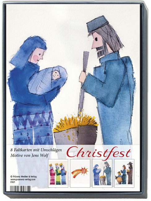Kunstkarten-Box Christfest