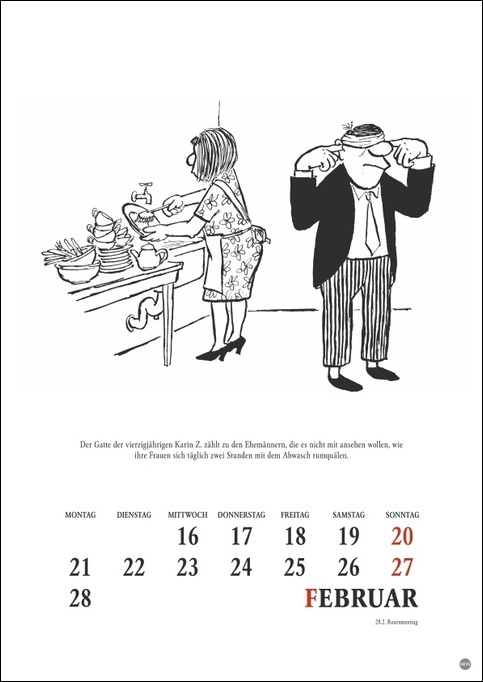 Loriot Heile Welt Halbmonatskalender 2022