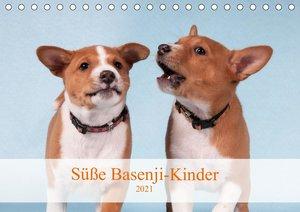 Süße Basenji-Kinder (Tischkalender 2021 DIN A5 quer)