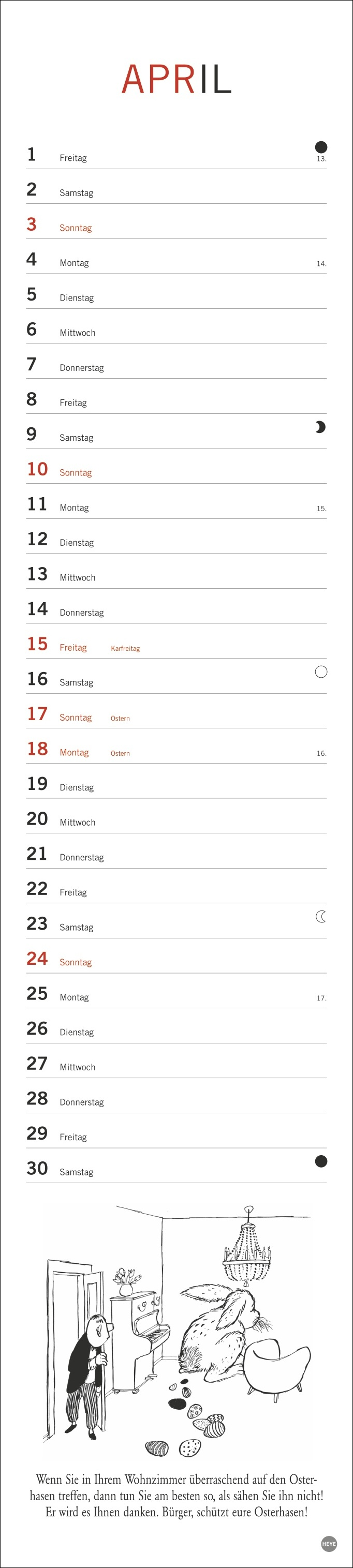 Loriot Planer Kalender 2022