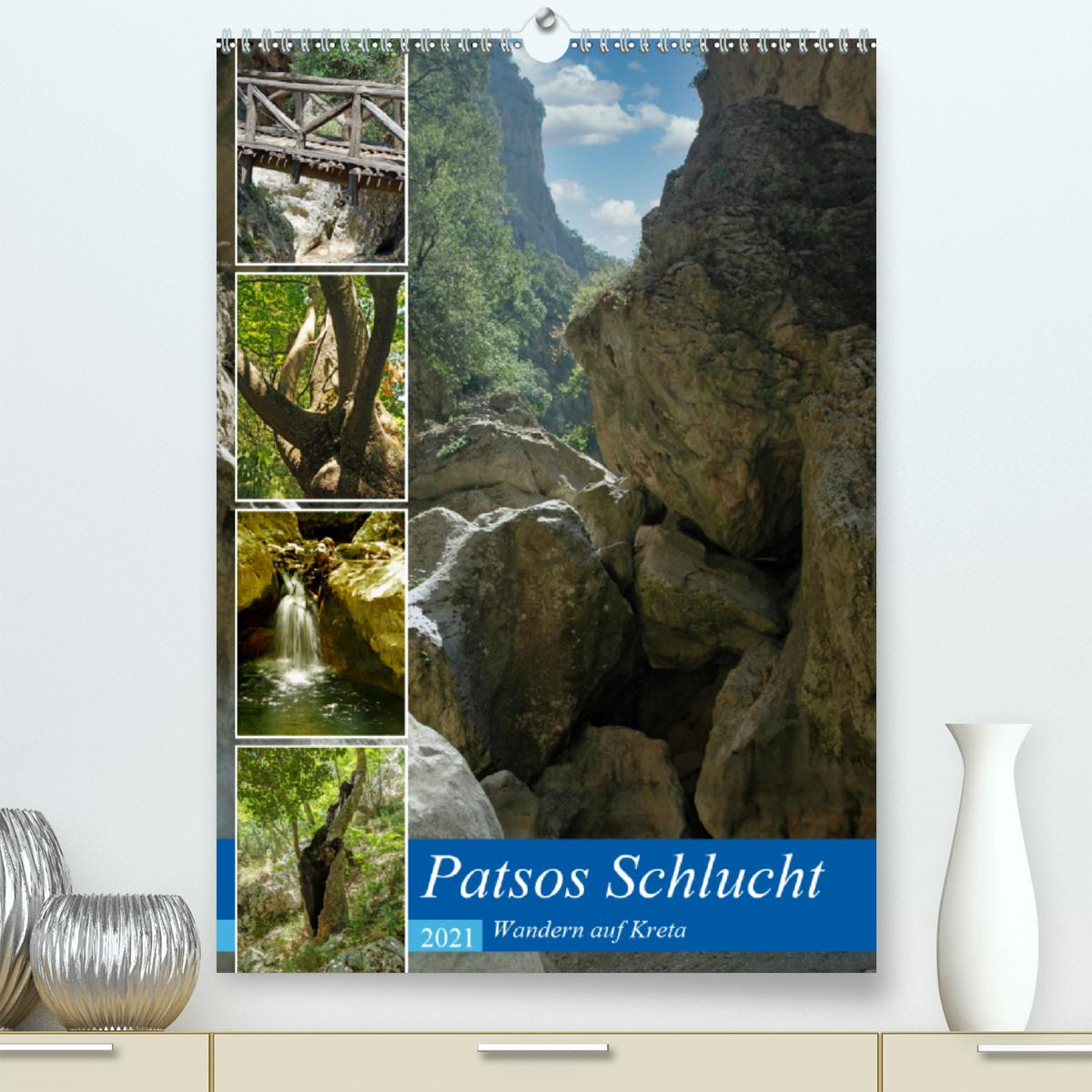 Patsos Schlucht. Wandern auf Kreta (Premium, hochwertiger DIN A2