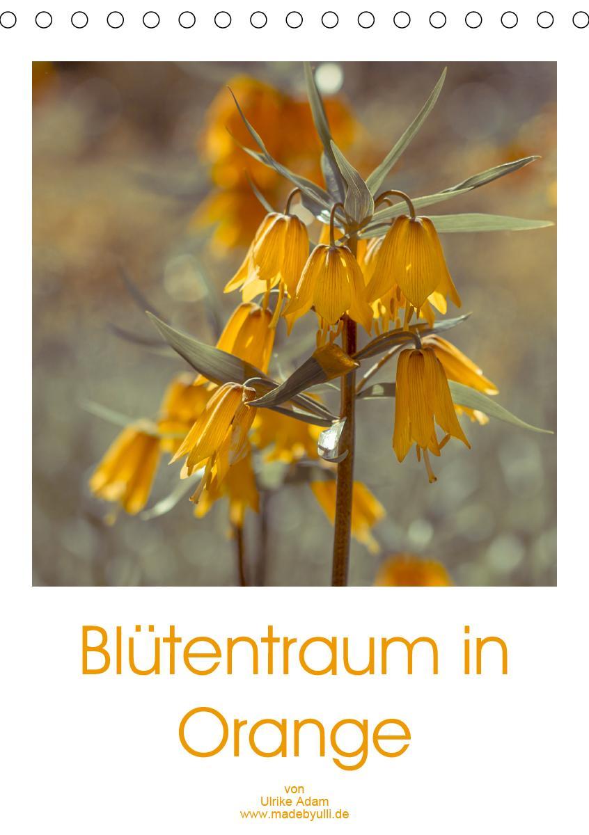 Blütentraum in Orange (Tischkalender 2021 DIN A5 hoch)