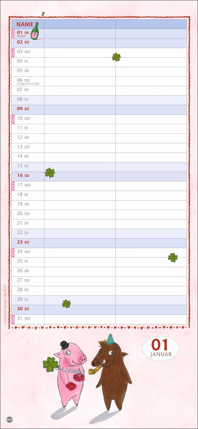 Rosalie & Trüffel Planer für zwei Kalender 2022