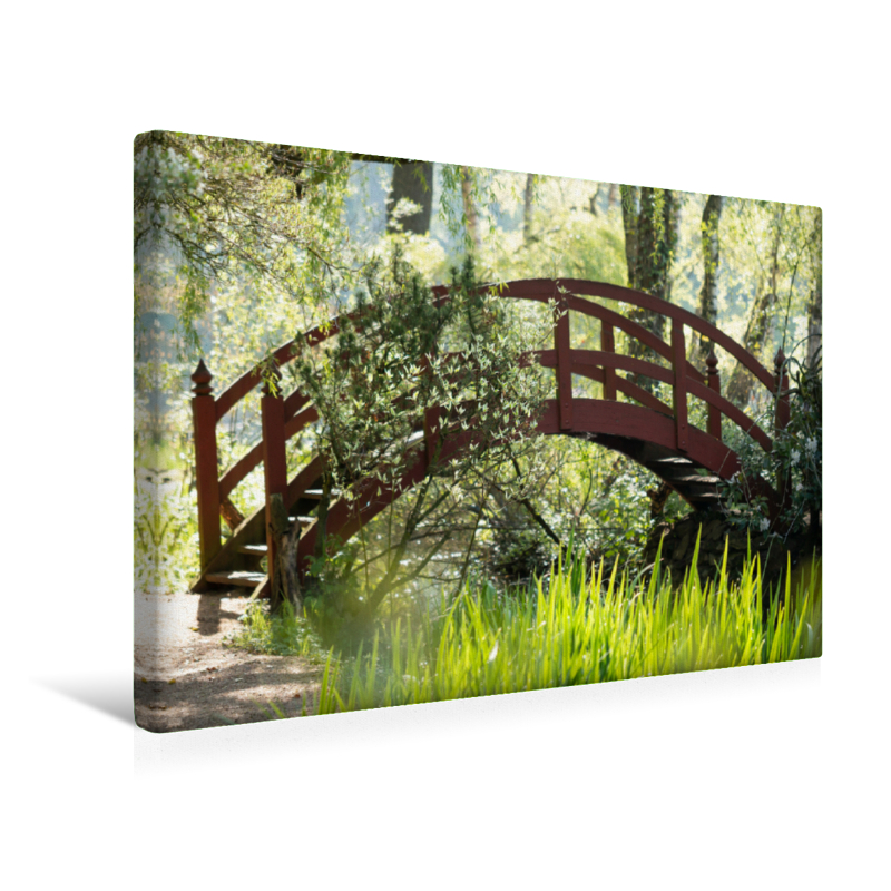 Premium Textil-Leinwand 45 cm x 30 cm quer Paradiesbrücke im Grü