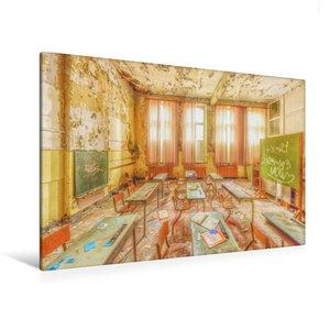 Premium Textil-Leinwand 120 cm x 80 cm quer Kinderstimmen fl?stern durch den Raum