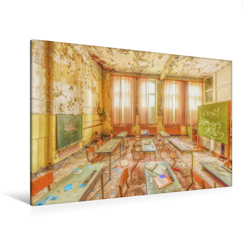 Premium Textil-Leinwand 120 cm x 80 cm quer Kinderstimmen flüste