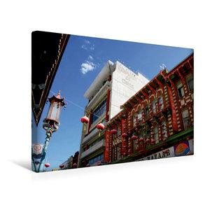 Premium Textil-Leinwand 45 cm x 30 cm quer China Town