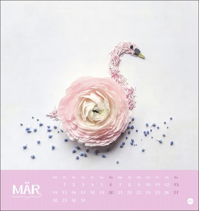 smettikage: Blütenbilder Postkartenkalender 2022