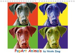PopArt Animals (Wandkalender 2021 DIN A4 quer)