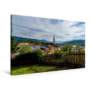 Premium Textil-Leinwand 90 cm x 60 cm quer Bad Tölz mit Isarwink