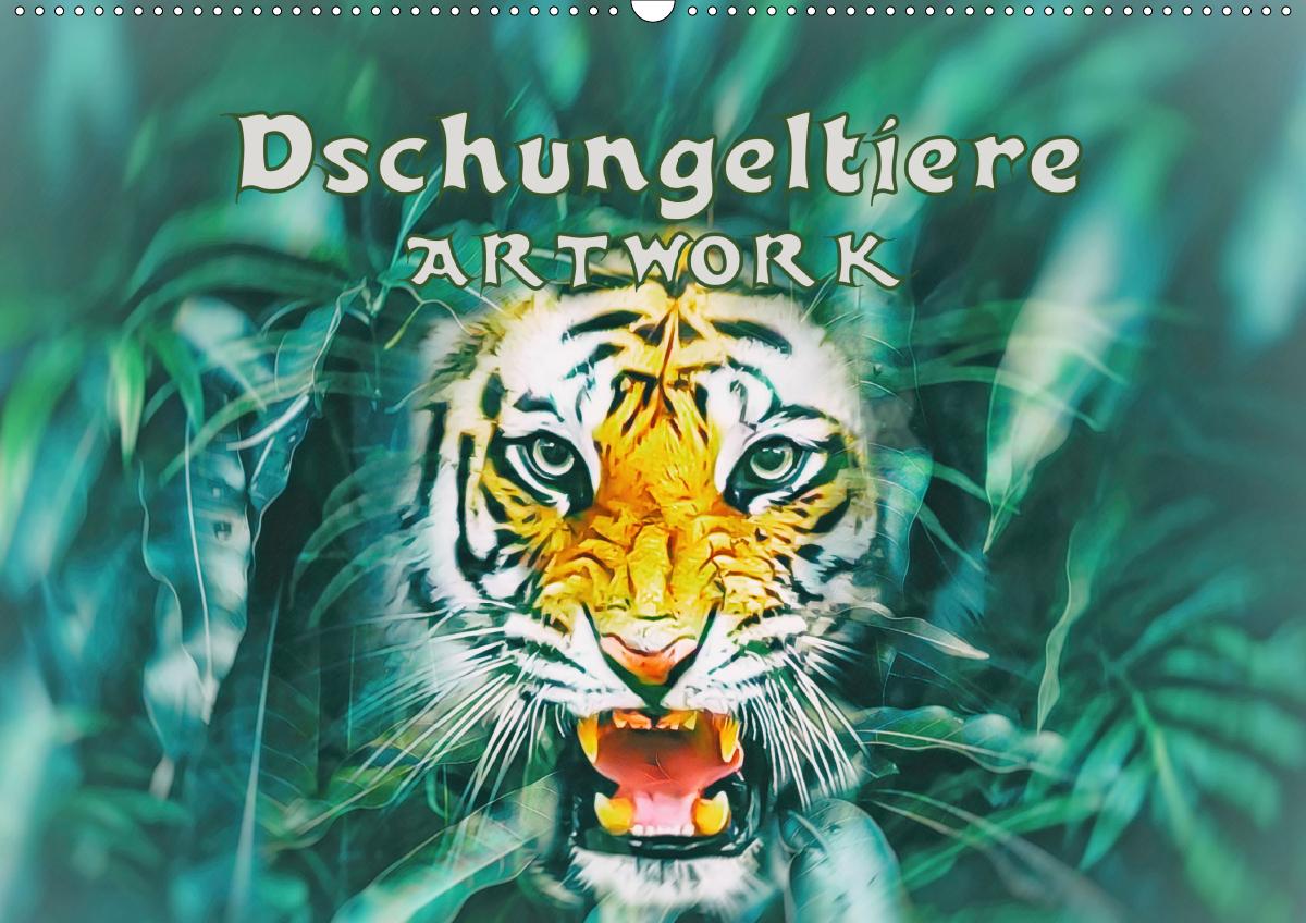 Dschungeltiere - ARTWORK (Wandkalender 2021 DIN A2 quer)