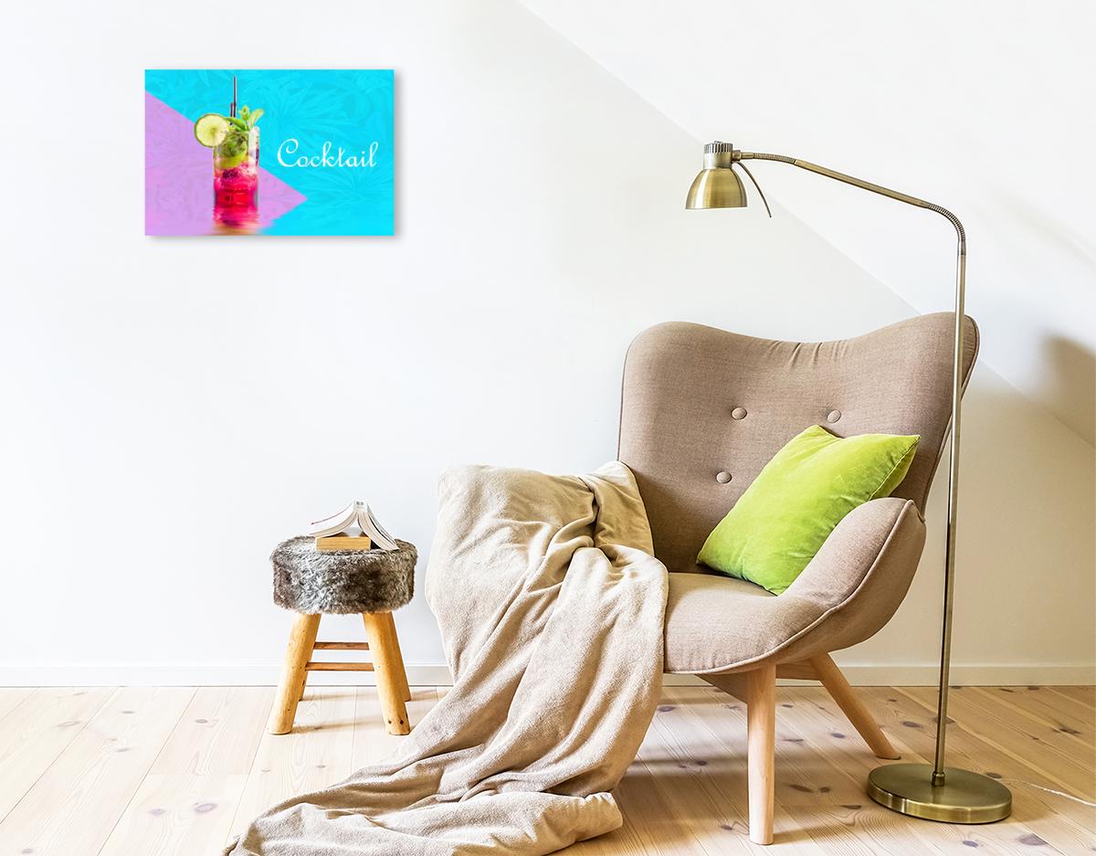 Premium Textil-Leinwand 45 cm x 30 cm quer Cocktail