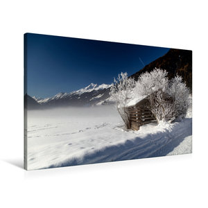 Premium Textil-Leinwand 90 cm x 60 cm quer Stubaital (Neustift)