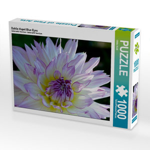 CALVENDO Puzzle Dahlie Hapet Blue Eyes 1000 Teile Puzzle hoch