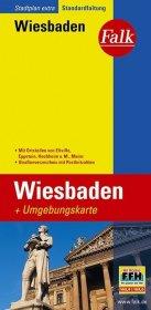 Falk Stadtplan Extra Standardfaltung Wiesbaden