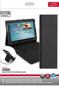 CORDO Bluetooth Keyboard Case - Tasche mit Bluetooth(R)-Tastatur für Galaxy Tab 2 10.1 (R), schwarz