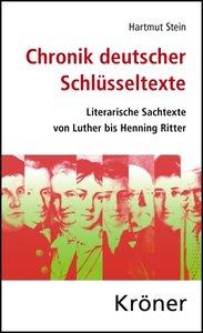 Chronik deutscher Schlüsseltexte