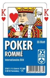Ravensburger 27067 - Poker, Romme, 55 Blatt Traditionelle Spielkarten