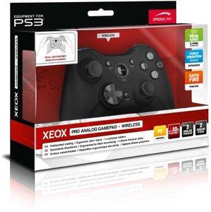XEOX Pro Analog Gamepad - Wireless, Kabelloses Gamepad für PS3/PC, schwarz