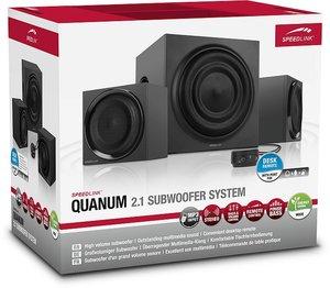 Speedlink QUANUM 2.1 Subwoofer System, Lautsprecher-System, schw