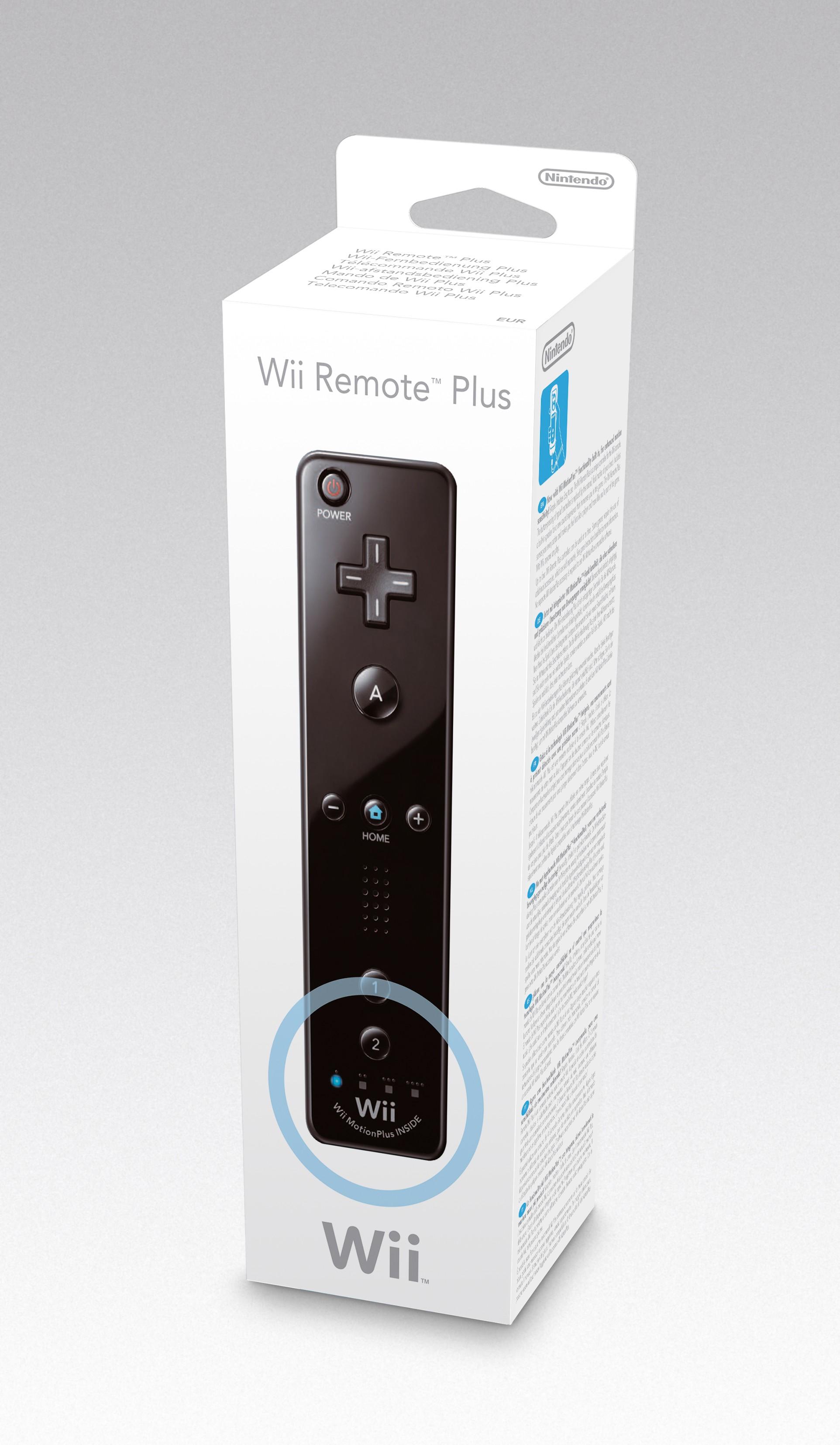 Wii Remote Plus Controller (integrierter Motion Sensor) Schwarz