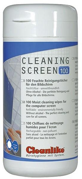 RONOL Bildschirmreinigungstücher in der Dose, ohne Alkohol, (100