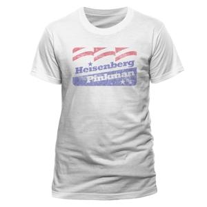 Heisenberg Flag (T-Shirt,Weiss,Größe XL)