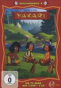 Yakari, Die Geschenkbox. Tl.4, 2 DVDs + 2 Audio-CDs